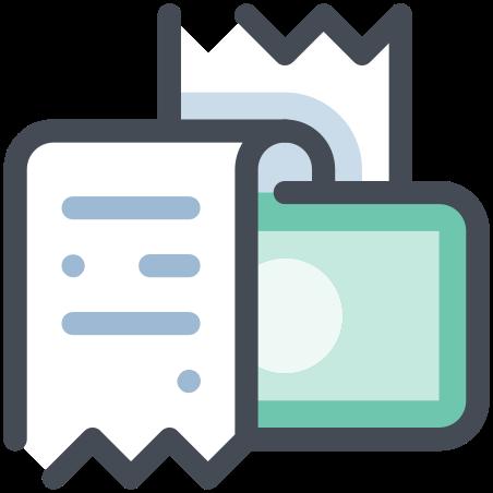 현금 영수증 icon