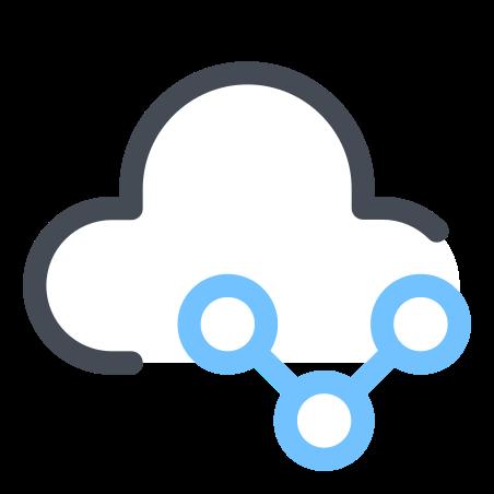 클라우드 공유 기호 icon