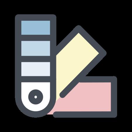 색상 팔레트 icon in 파스텔