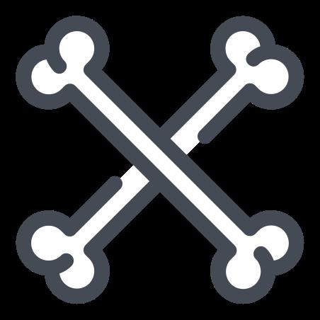 Crossbones icon in Pastel