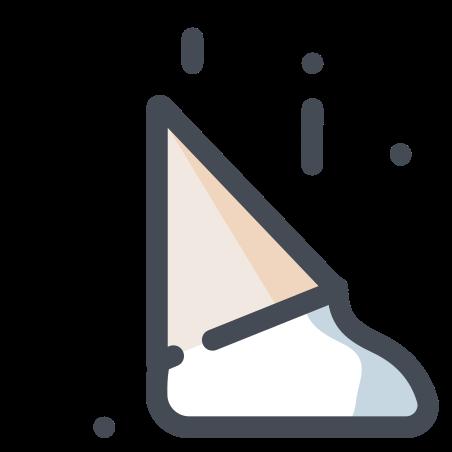 Fallen Ice Cream Cone icon
