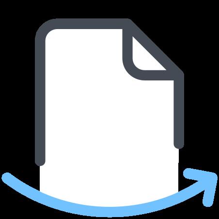 File Arrow icon in Pastel
