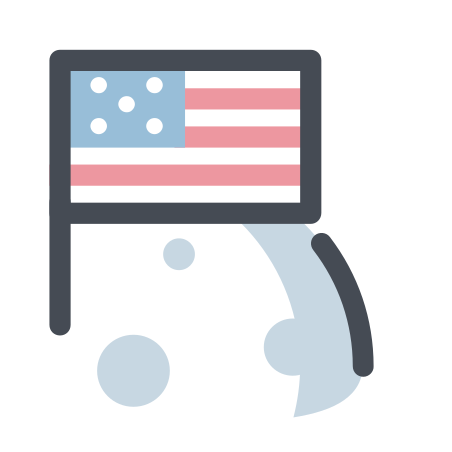 Flag on the Moon icon