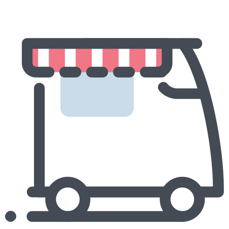 Food Truck icon in Pastel
