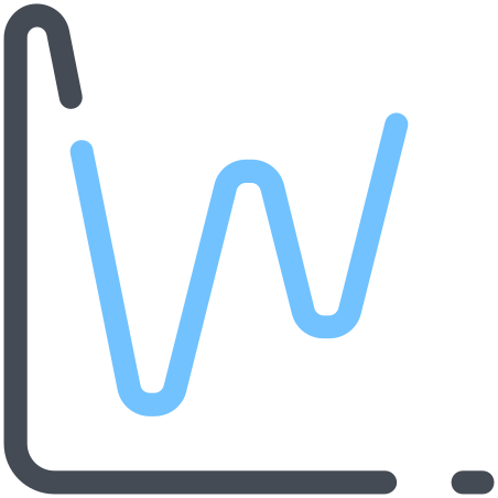 Graph icon in Pastel