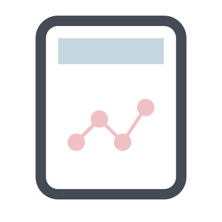 Graph Report icon in Pastel