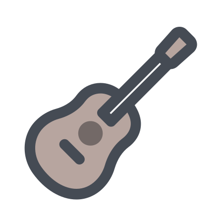 Guitar icon in Pastel