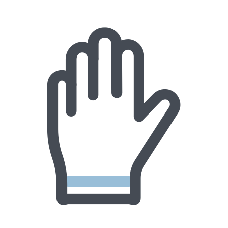 Hand icon in Pastel