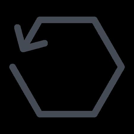 Hexagon Reload icon