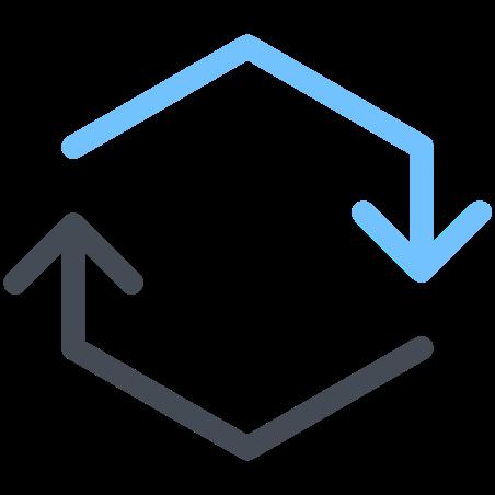 Hexagon Synchronize icon