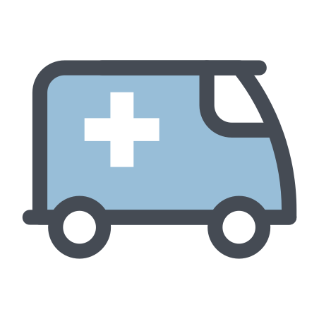 Hospital Wagon Without a Siren icon in Pastel