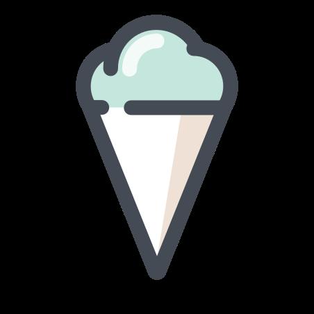 Ice Cream Fruit Cone icon in Pastel