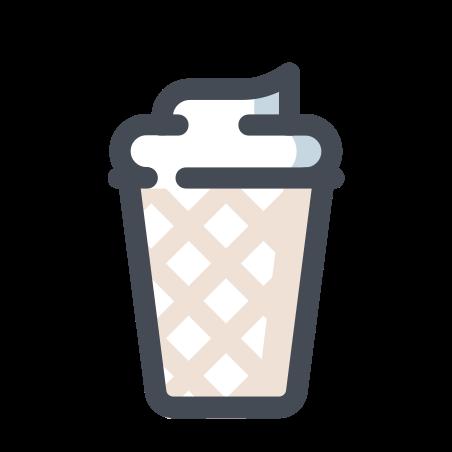 Helado en Waffle icon