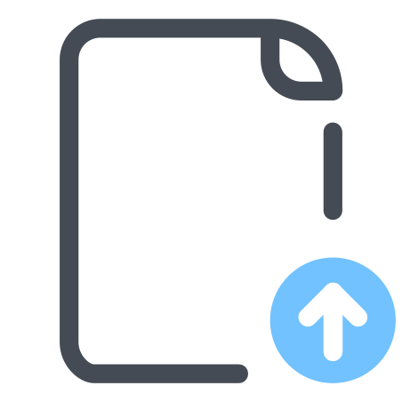 Datei importieren icon