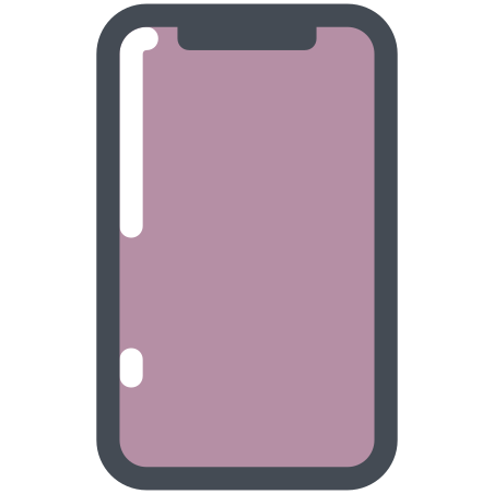 iPhone X icon in Pastel