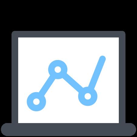 Laptop Analytic icon