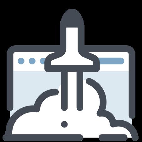 ブラウザを起動する icon