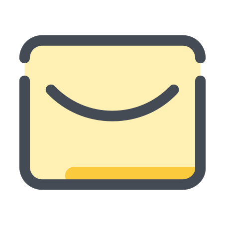 Letter icon in Pastel