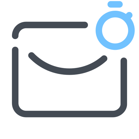 Mail By Timer icon in Pastel