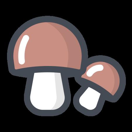 Mushroom icon in Pastel