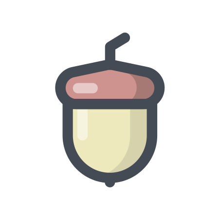 Nut icon in Pastel