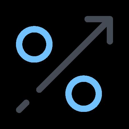 Percentage Growth icon