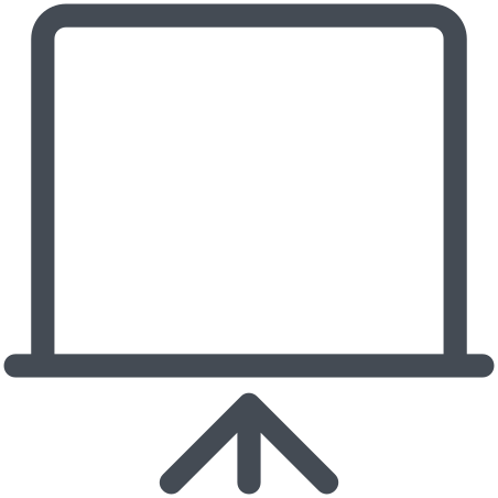Presentation Screen icon in Pastel