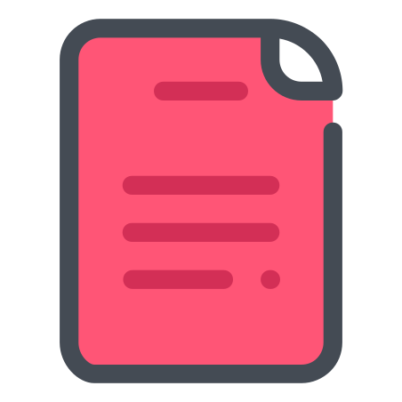 Red File icon