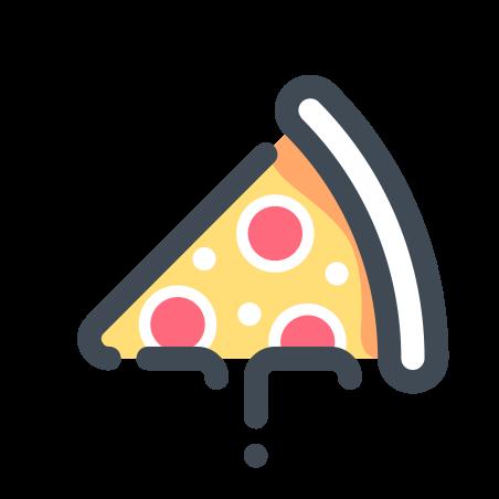 Salami Pizza icon in Pastel