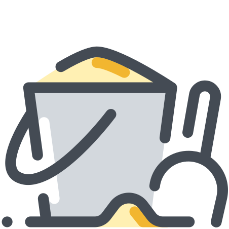Sand Bucket icon in Pastel