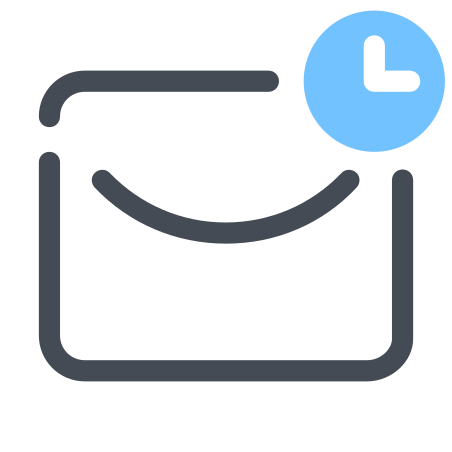 Schedule Mail icon in Pastel