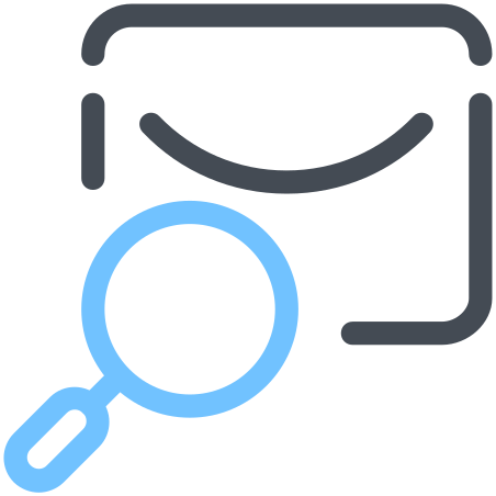 Search in Mail icon in Pastel