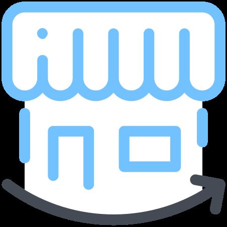 Shop Arrow icon in Pastel