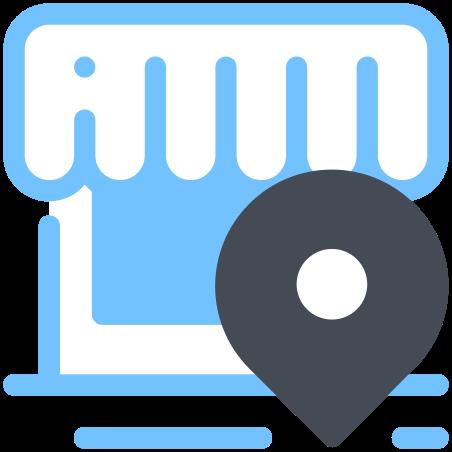 Shop Location icon in Pastel