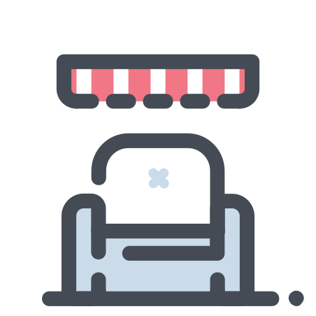 Shop on the Couch icon in Pastel