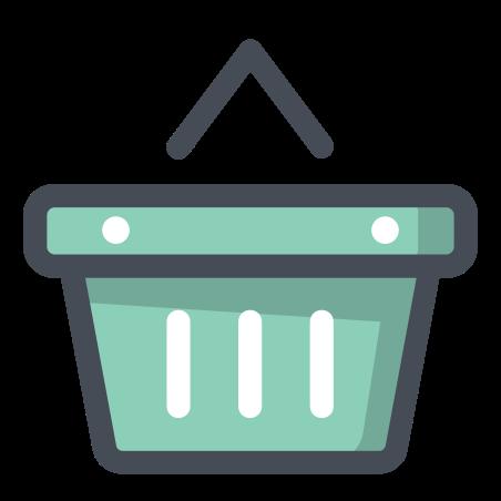 Shopping Basket icon in Pastel