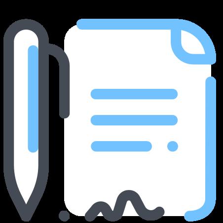 Document de signe icon