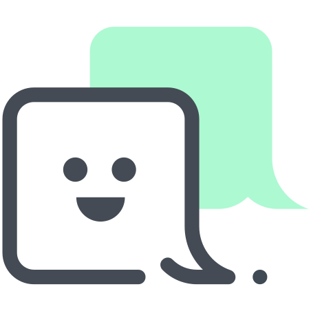 Sms icon in Pastel