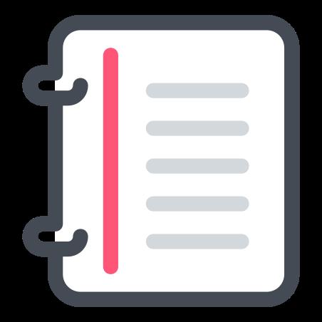 나선형 제본 소책자 icon