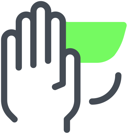 Stop Gesture icon in Pastel