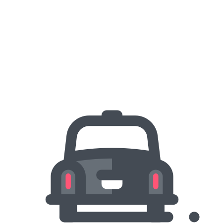 Taxicab icon in Pastel