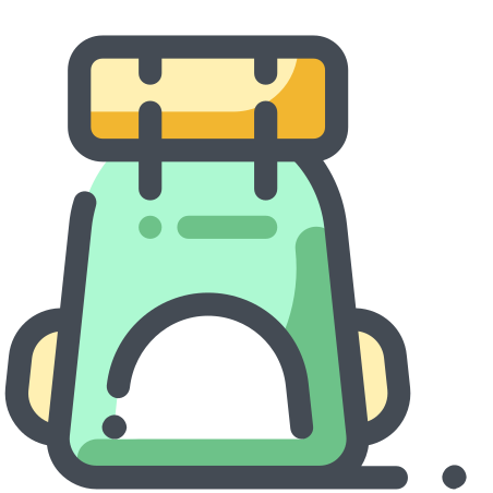 Tourist Backpack icon in Pastel