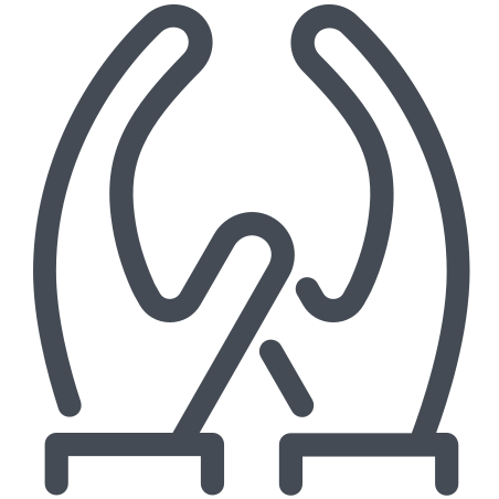 Two Hands icon in Pastel