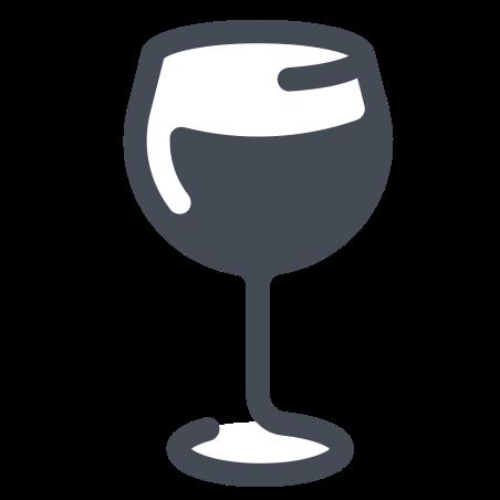 와인 잔 icon in 파스텔