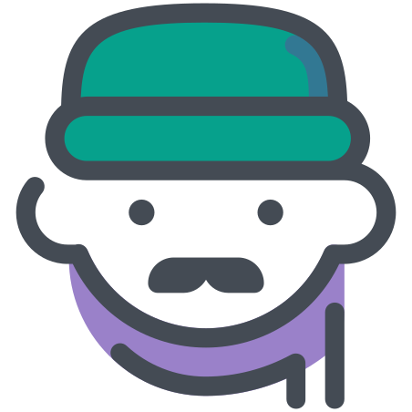 Winter Outfit Man icon in Pastel