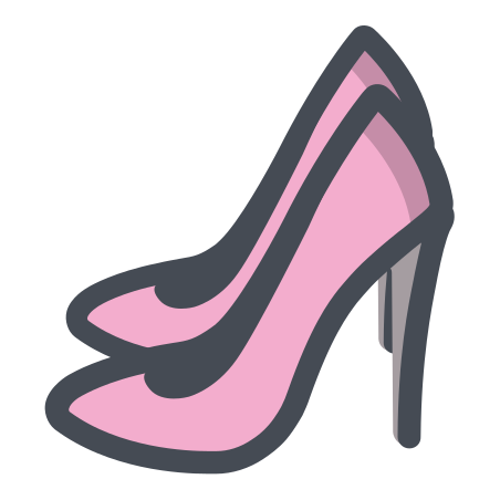 Women Shoes icon in Pastel