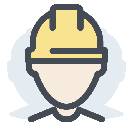 Worker icon in Pastel