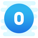 Circled 0 C icon