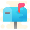 mailbox closed-flag-up icon
