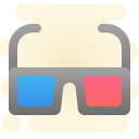 Gafas 3d icon
